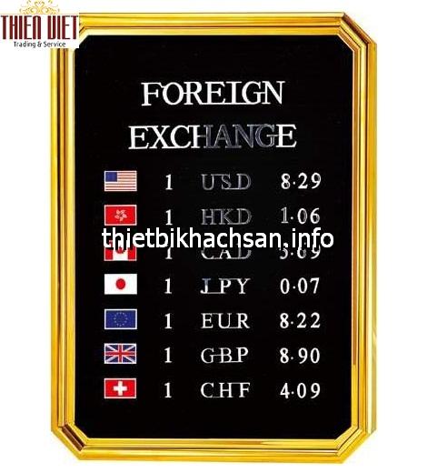 Bảng tỷ giá ngoại tệ - Exchange rate board TV26