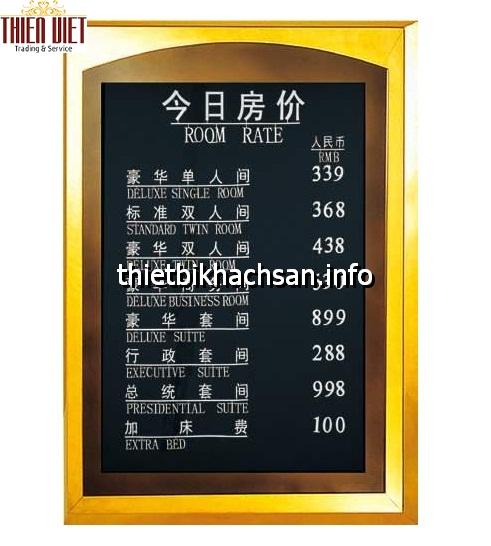 Biển giá buồng phòng - Room Rate P40