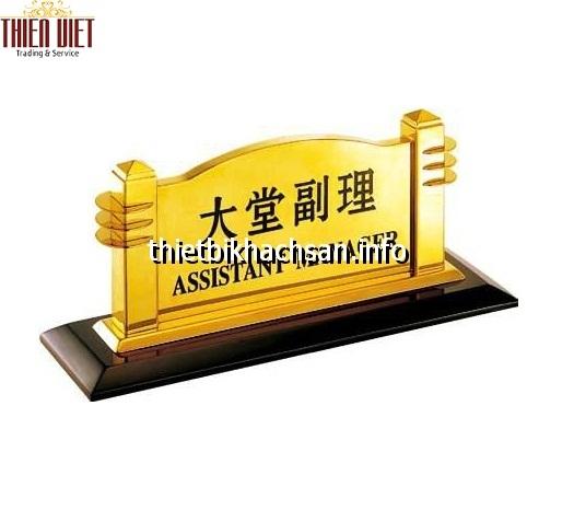 Biển quầy lễ tân - reception board TV19